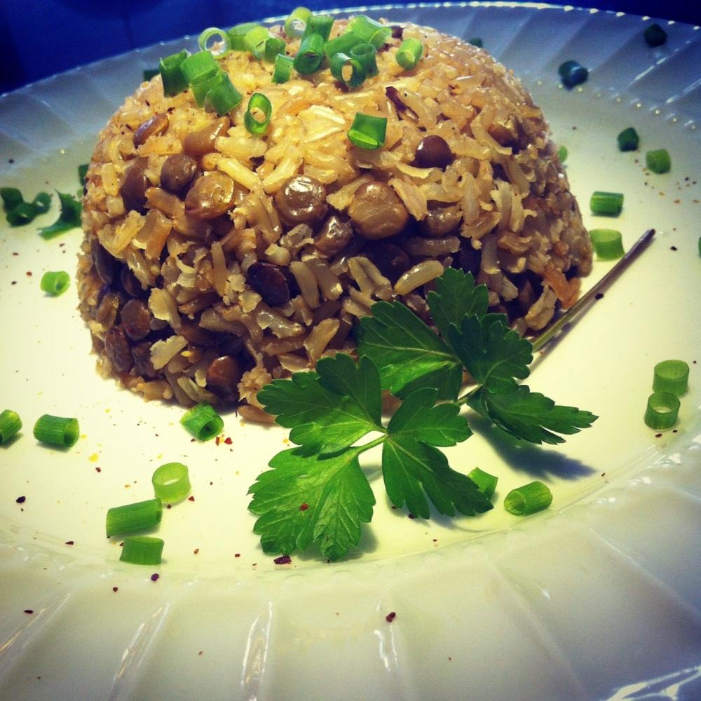 arroz integral com lentilha (4/5)